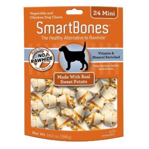 SMARTBONES SWEET POTATO MINI 24 PACK