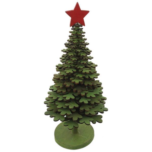 "13"" Wooden Snowflake Tree"