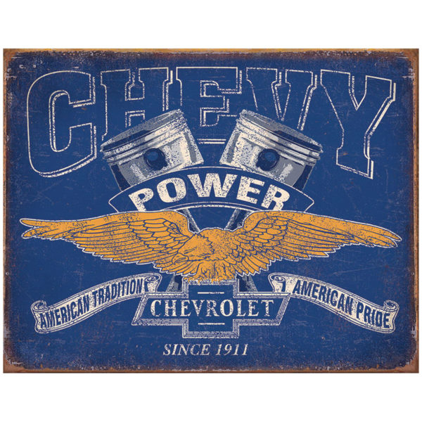 Chevy Power Metal Sign