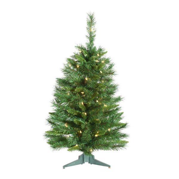 3' PRINCESS PINE TREE, MULTICOLOR LIGHTS