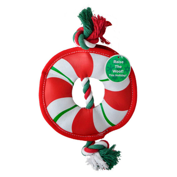 Durable Holiday Wreath Dog Toy