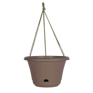 "BLOEM 13"" LUCCA HANGING BASKET, CHOCOLATE"