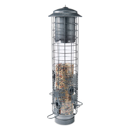 AUDUBON DRAGONFLY SQUIRREL-RESISTANT TUBE BIRD FEEDER