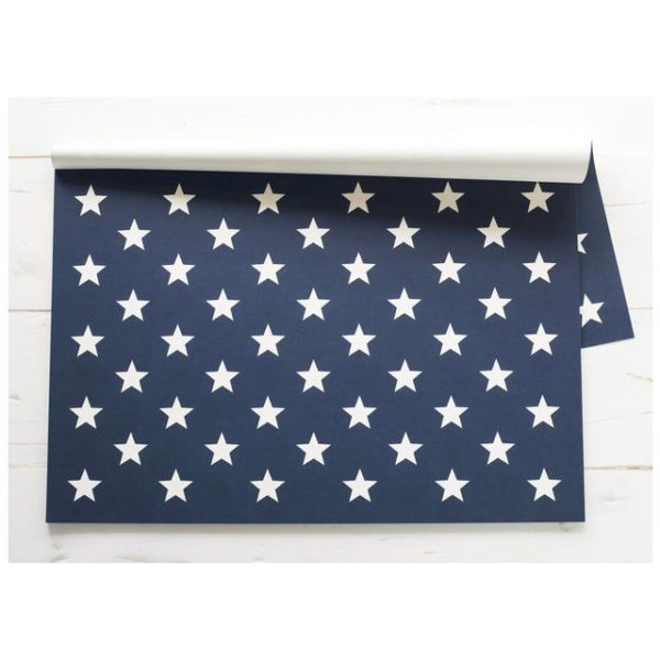 30 CT STARS ON BLUE PAPER PLACEMAT