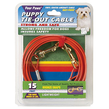 15' Puppy Tie Out Cable