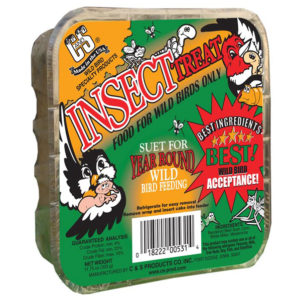 C&S INSECT TREAT SUET CAKE, 11.75 OZ.