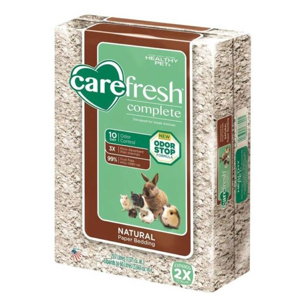 CAREFRESH NATURAL PET BEDDING-FRESH PRESS PACK, 60 LITERS.