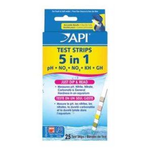 API 5 IN 1 AQUARIUM TEST STRIPS (25-COUNT)