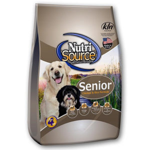 NutriSource Senior Dog Food Chicken and Rice, 6.6 LB