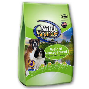 NutriSource Weight Management Chicken & Rice Recipe Dog Food, 30 LB