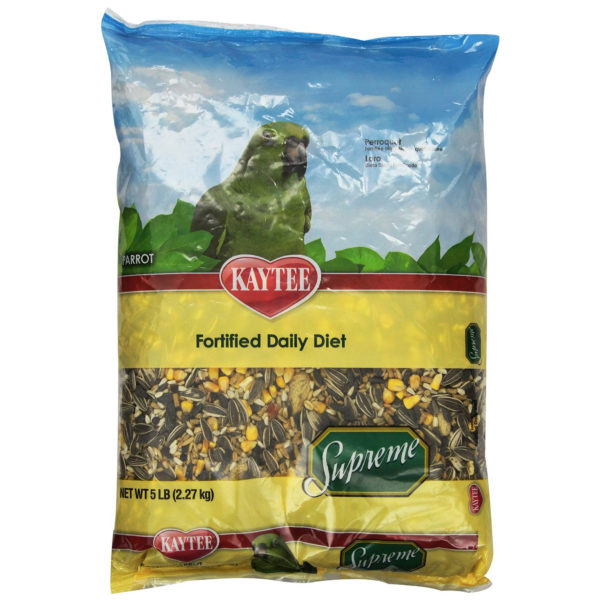 Kaytee Supreme Bird Food for Parrots, 5 lbs.