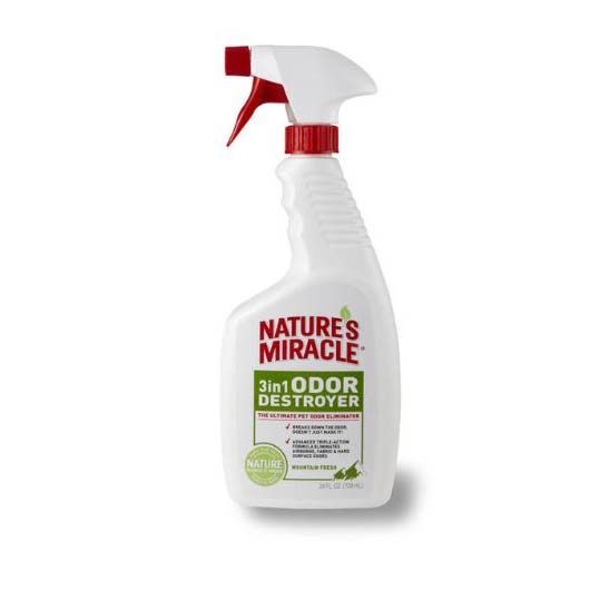 NATURE'S MIRACLE 3-IN-1 ODOR DESTROYER, 24 OZ.
