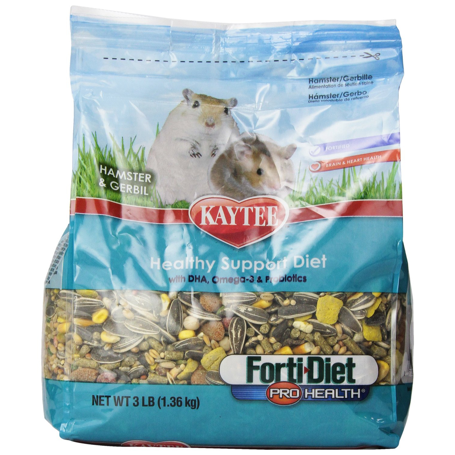 Alimentation Hamster kaytee forti diet pro health food for hamster/gerbil, 3 lbs.