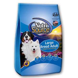 NutriSource Large Breed Adult Chicken & Rice Formula Dog Food, 33 LB