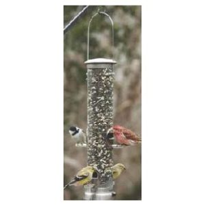 ASPECTS QUICK-CLEAN SEED TUBE FEEDER, MEDIUM - BRUSHED NICKEL