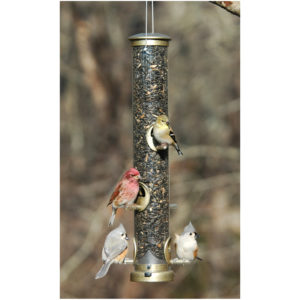 Aspects Quick-Clean Seed Tube Feeder, Large - Antique Brass