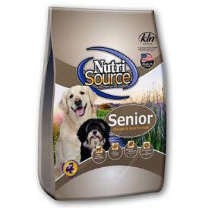 NutriSource Senior Dog Chicken and Rice Formula, 18 LB