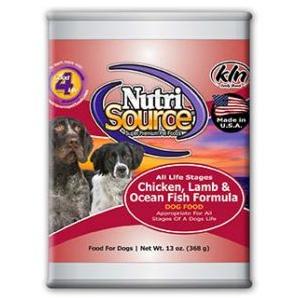 NutriSource Chicken, Lamb & Ocean Fish Formula - Canned Dog Food