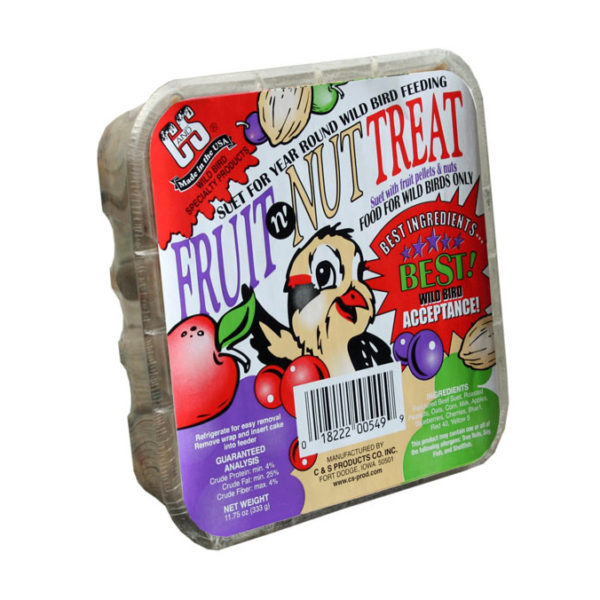 C&S FRUIT N' NUT TREAT SUET CAKE, 11.75 OZ.