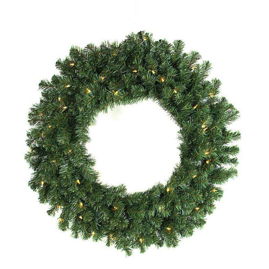 24 Norway Pine Wreath Battery Operated Warm White Led Lights