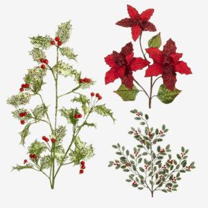 Christmas Silk Floral