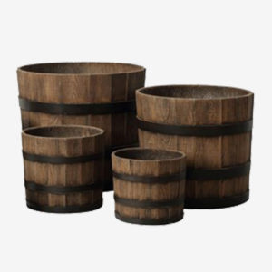 Barrels & Wood Plant Containers