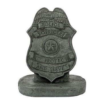 Indigo Police Badge Statue