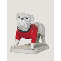 Standing Life Like Bulldog on Base Statue