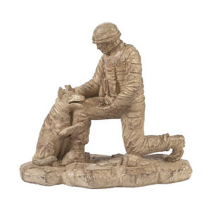 Soldier with Dog Statue