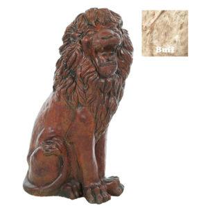 Sitting Lion Statue-Buff