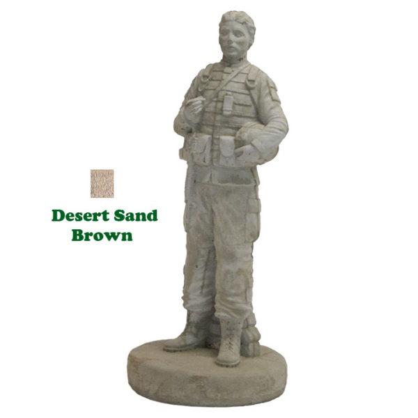 Female Soldier in Desert Sand-Brown