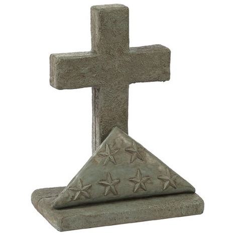 Flag & Cross Dessert Sand Statue