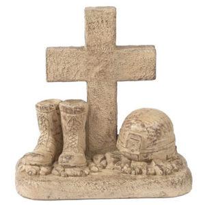 Soldier Boots/Helmet at Cross Statue