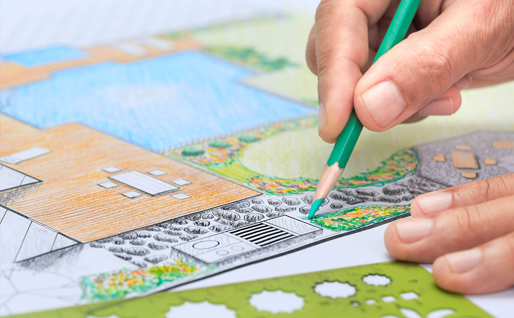 planning your dream garden by sketching your ideal landscape