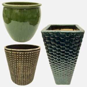 Large Ceramic Glazed Pots