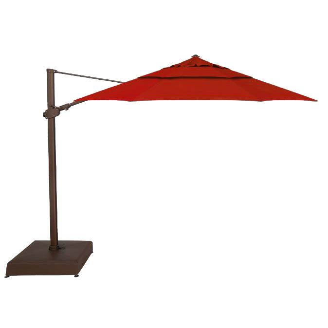 Treasure Garden Cantilever 11 5 Umbrella Bronze Finish Really Red Fabric