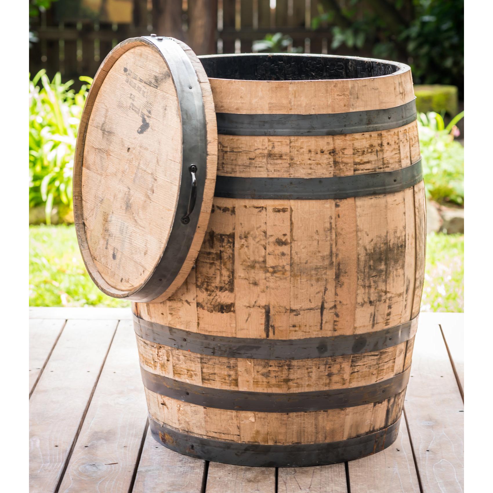 Oak Whole Whiskey Barrel Alsip Home