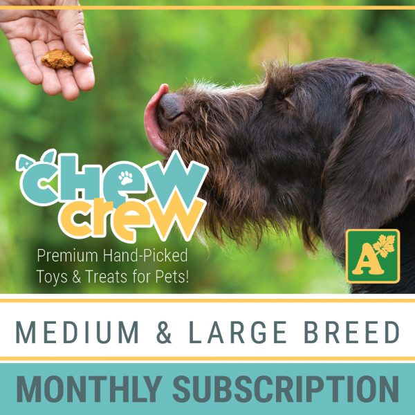 Alsip Chew Crew Premium Hand-Picked Toys & Treats for Medium and Large Breed Dogs - Monthly Subscription