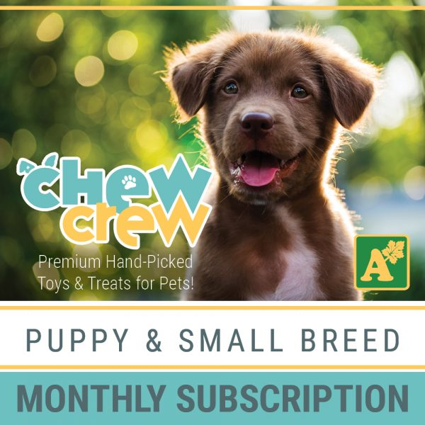 Alsip Chew Crew Premium Hand-Picked Toys & Treats for Puppies and Large Breed Dogs - Monthly Subscription