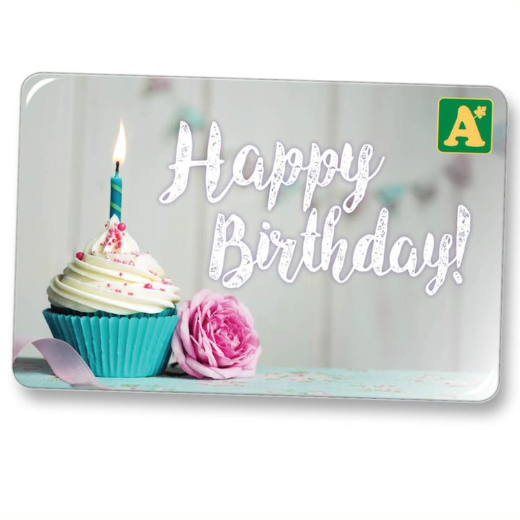 Birthday 75 E Gift Card Categories