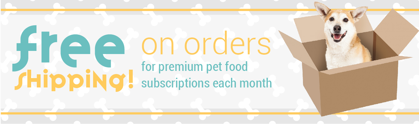 Free Monthly Shipping on your Recurring Pet Food Subscriptions with a Chew Crew Membership