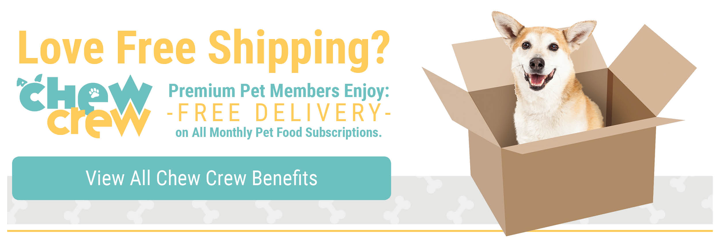 Chew Crew Members Receive Free Shipping on Monthly Pet Food Subscriptions