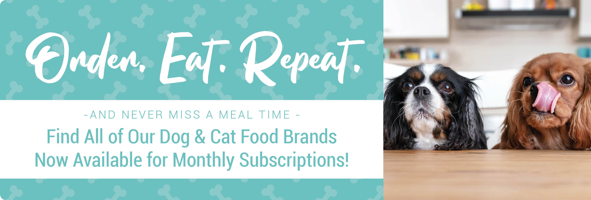 Monthly Pet Food Subscriptions Now Available!