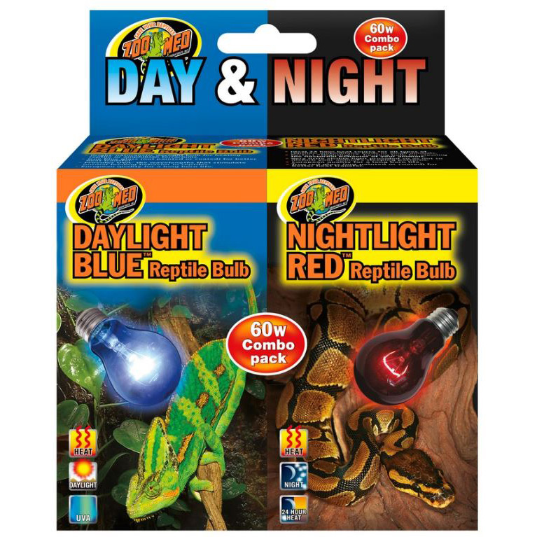 Day Amp Night Reptile Bulb Combo Pack 60 Watt Alsip Home
