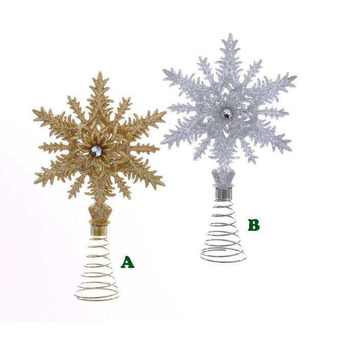 Christmas Tree Toppers.Snowflake Tree Topper