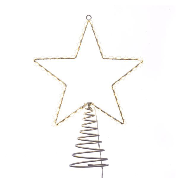 Metal Wire Led Star Tree Topper