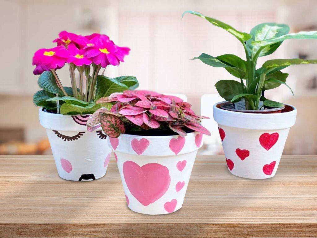 Valentine's Painted Pot