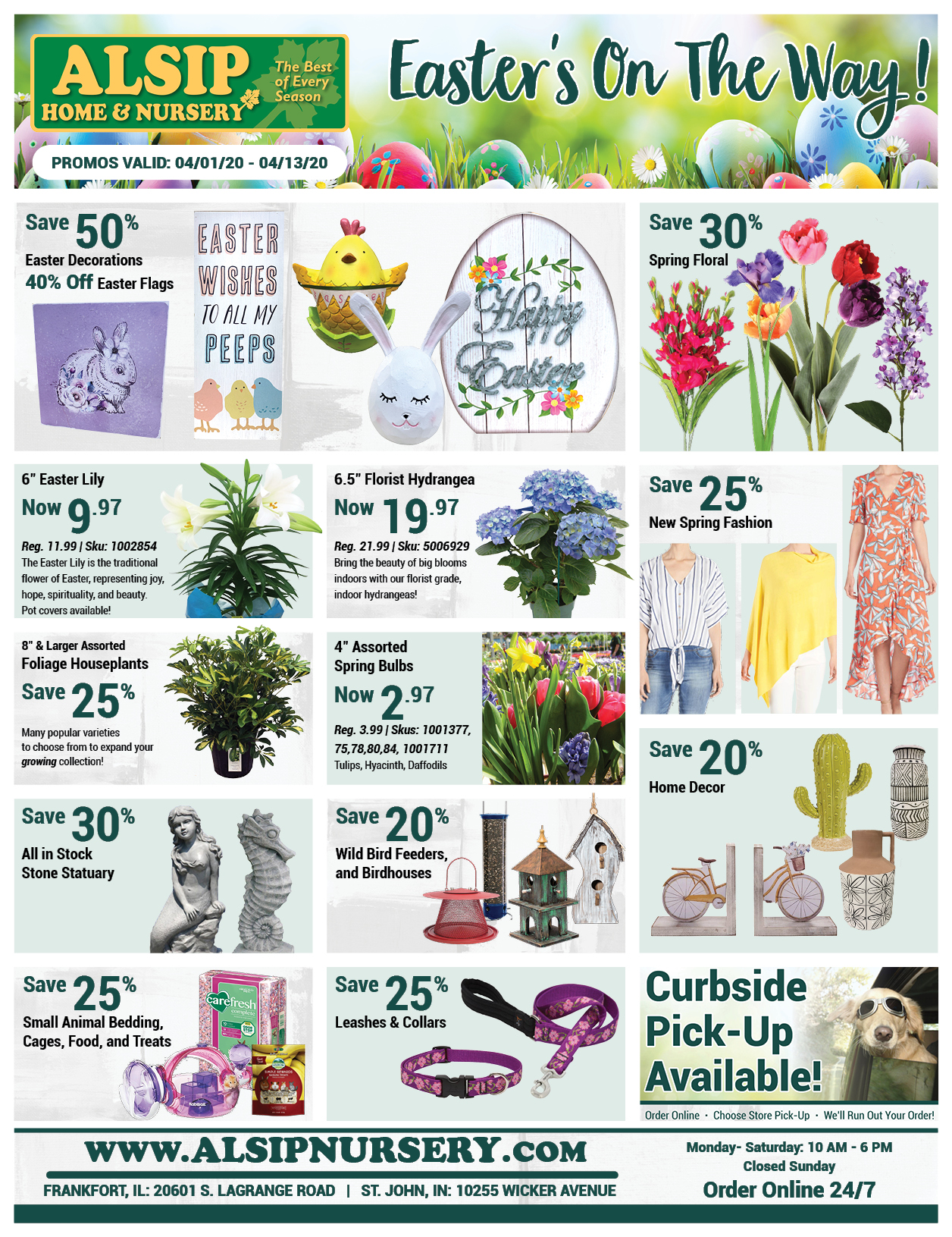 Easter Sale at Alsip Home & Nursery