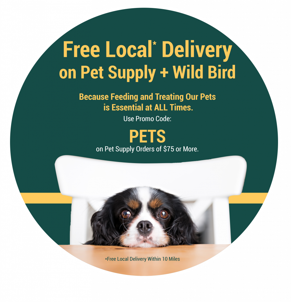 Free Local Delivery on Pet Supply Orders $75 Or More - Limited Time Only