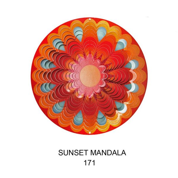 Sunset Mandala Wind Spinner